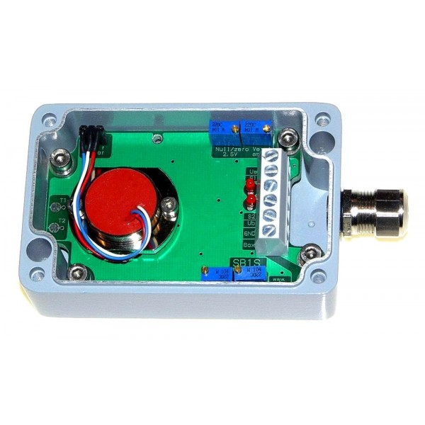 SM-1S: Sensor box (Inclinometer/Accelerometer) - Output signal 0-5V and two open-collector output switches