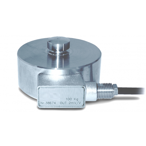 SM-C2SAM : High capacity Compression Load Button Load Cell up to 200T - amplified version.