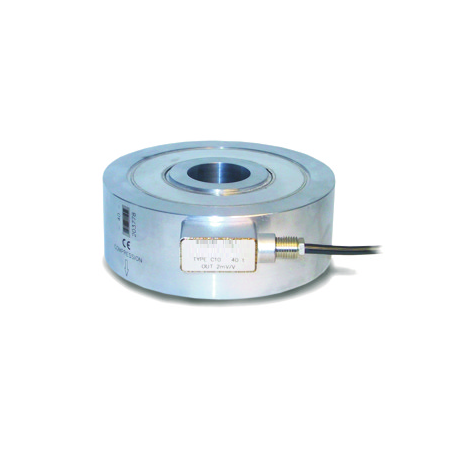SM-C10 : High capacity Compression Donut Load Cell up to 100T.