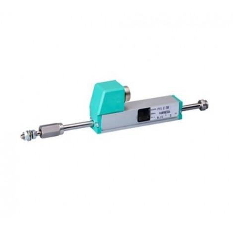 PY1 : Capteur de déplacement linéaire de 0 à 25, ..., 150 mm.