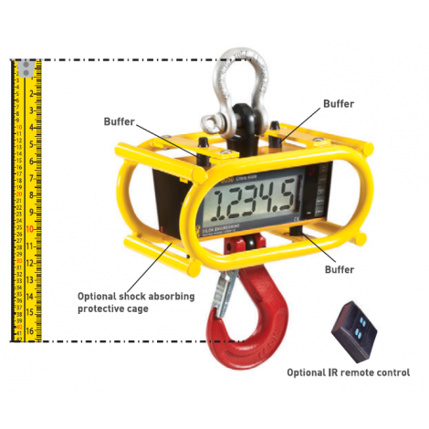 """RON3050 - Crane scale with 2""""/50mm Display - 0.5, ...,  15 Tonnes"""