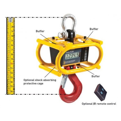 "RON3025 - Crane scale with 1""/25mm Display - 0.5, ...,  12.5 Tonnes"