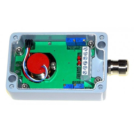 SM-1S : Boitier inclinomètre / accéléromètre mono axe sortie 0...5 V et 2 sorties relais