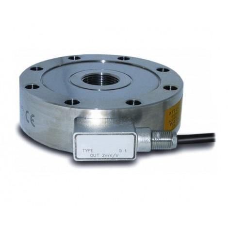 SM4-AMP : Capteur de force type galette en traction compression -  jusqu' à 500T - sortie amplifiée