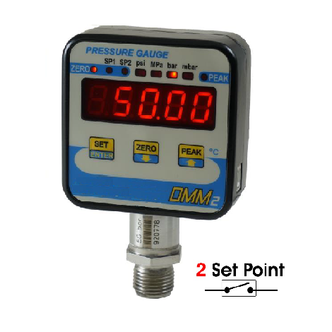 SM-DMM2 : Digital manometer From 1, ..., 2500 bar - Relay output