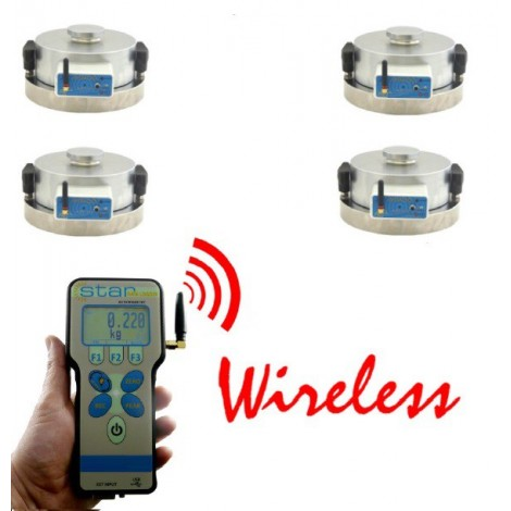 Wireless compression Weight measurement
